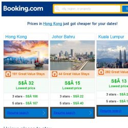 [Booking.com] Prices in Hong Kong are dropping for your dates!
