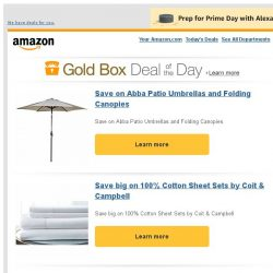 [Amazon] Save on Abba Patio Umbrellas and Folding Canopies