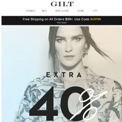 [Gilt] Extra 40% Off: The Designer Event (Your closet's been waiting for this)