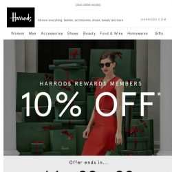 [Harrods] 10% Off* | Ends Today
