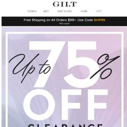 [Gilt] Beat the Sunday Scaries: Up to 75% Off Clearance