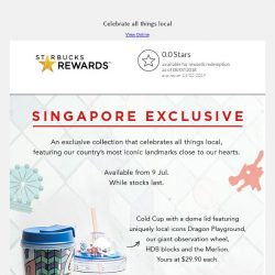 [Starbucks] Incoming: Starbucks Singapore exclusive collection