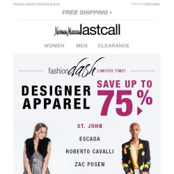[Last Call] LIMITED TIME: up to 75% off St. John & MORE