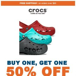 [Crocs Singapore] 1+1 = 50% OFF🎉 Buy one and get one 50% off NOW‼️