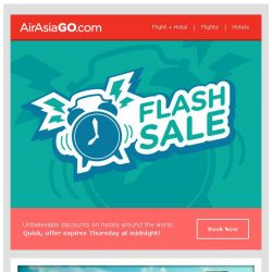 [AirAsiaGo] ⌚ Flash Tuesday Special   Enjoy discounts up to 40% off! ⌚