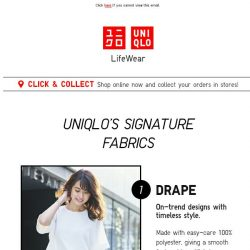 [UNIQLO Singapore] Your favourite pieces made with our signature fabrics