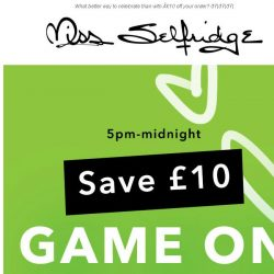 [Miss Selfridge] 🇬🇧IT'S COMING HOME (with £10 off) ⚽️