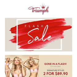 [Triumph] FLASH SALE: Further Markdown + New Arrivals Just In!
