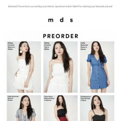 [MDS] New Drops | All-New Styles in Arriving Soon!