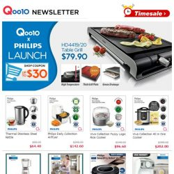 [Qoo10] Qoolife X Philips Launch. Grab Up To $30 Shop Coupon + Shop Coupon. Get A Chance To Win Philip Toaster Here!