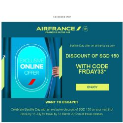 [AIRFRANCE] Exclusive discount for Bastille Day!