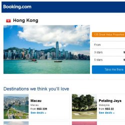 [Booking.com] Deals in Hong Kong from S$ 17