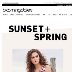 [Bloomingdales] Summery stripes from Sunset + Spring