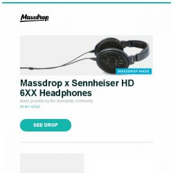 "[Massdrop] Massdrop x Sennheiser HD 6XX Headphones, Massdrop x Zslane Mercury Rocketeer Keyboard, Samsung 55/65/75/82"" QLED Q6FN Series 4K UHD TVs and more..."