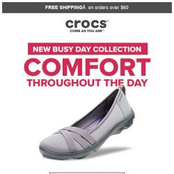 [Crocs Singapore] Busy day❓ What you need is the Busy day❗ Meet our new Busy day collection that will make your day💖