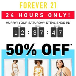 [FOREVER 21] THEY'RE GOING FAST