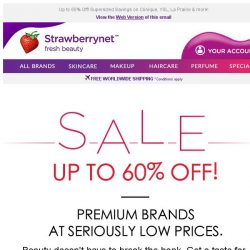 [StrawberryNet] 6 Top Beauty Brands at Incredible Prices!