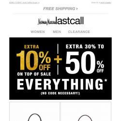 [Last Call] Snag extra 10% off on top of sale, before it's GONE