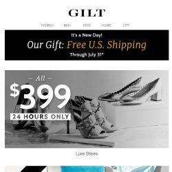 [Gilt] $399 Luxe Shoes for 24 Hours Only | Under $30 Travel Gifts