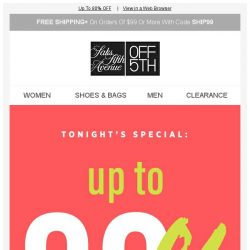 [Saks OFF 5th] An EXCLUSIVE Cyber Sunday offer inside...