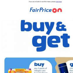 [Fairprice] Enjoy gift-with purchase and $10 off*