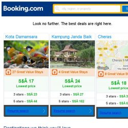 [Booking.com] Kota Damansara, Kampung Janda Baik, or Cheras? Get great deals, wherever you want to go