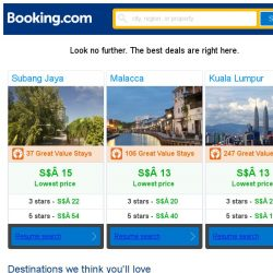 [Booking.com] Subang Jaya, Malacca, or Kuala Lumpur? Get great deals, wherever you want to go