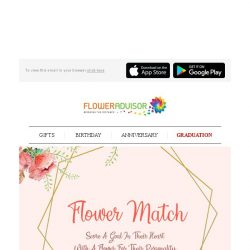 [Floweradvisor] Flower Match: Because picking the right flower isn't an easy thing. Find out more!
