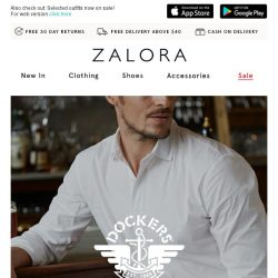 [Zalora] Dockers up to 25% off: Signature khaki pants and work shirts!