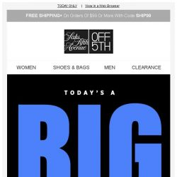 [Saks OFF 5th] PRIME time: up to an extra 40% OFF w/ code 24HOURS + SPECIAL DELIVERY: Superdry & More!