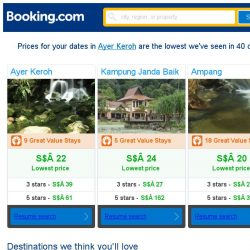 [Booking.com] Prices in Ayer Keroh dropped again – act now and save more!