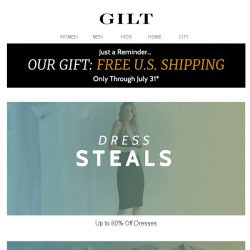 [Gilt] Up to 80% Off Dresses | Up to 70% Off Kids' Clearance