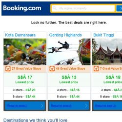 [Booking.com] Kota Damansara, Genting Highlands, or Bukit Tinggi? Get great deals, wherever you want to go