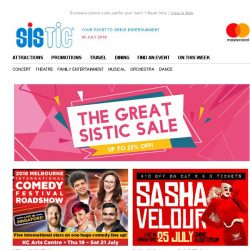 [SISTIC] You Snooze, You Lose! #GREATSISTICSALE is here!