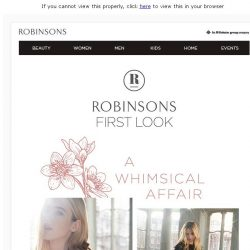 [Robinsons]  EXCLUSIVE! Robinsons First Look invite - A whimsical affair