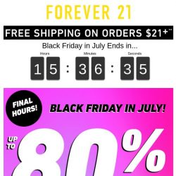[FOREVER 21] Ok...it's almost over.