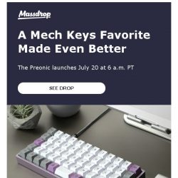 [Massdrop] Massdrop x OLKB Preonic Mechanical Keyboard Kit: Available Friday