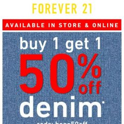 [FOREVER 21] BOGO 50% OFF DENIM