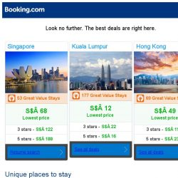 [Booking.com] Singapore, Kuala Lumpur, or Hong Kong? Get great deals, wherever you want to go