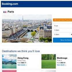 [Booking.com] Deals in Paris from S$ 57