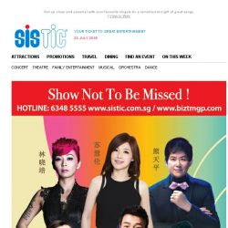 [SISTIC] A concert that's not to be missed. Book your tickets now! 一场难得的演唱会 您买票了吗?
