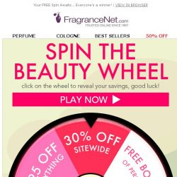 [FragranceNet] SPIN TO WIN! (back by popular demand)