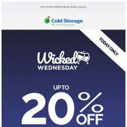 [Cold Storage] ⚡ Wine Deals - 24 Hours Only!⚡