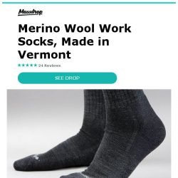 [Massdrop] Darn Tough Work Socks: Made in the USA & Guaranteed for Life for $46.00 Per 2-Pack