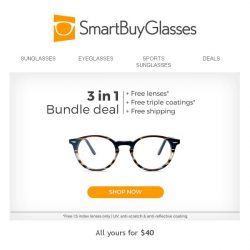 [SmartBuyGlasses] Our very own collection in all your favourite frame shapes, for just $40