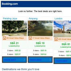 [Booking.com] Petaling Jaya, Ampang, or London? Get great deals, wherever you want to go