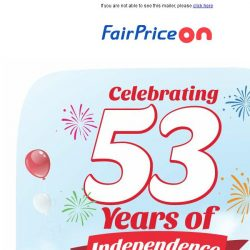 [Fairprice] Happy (and Tasty) National Day!