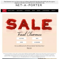 [NET-A-PORTER] Have you shopped the sale yet? Get an extra 20% off 'Sale Must-Haves' now