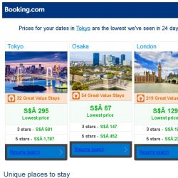 [Booking.com] Prices in Tokyo are the lowest we've seen in 24 days!