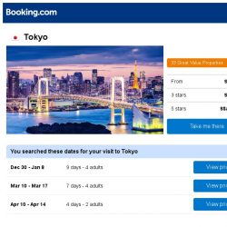 [Booking.com] Deals in Tokyo from S$ 295